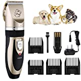 OMORC Electric Dog Clippers, Cordless Dog Trimmer Low Noise | Professional Cat Hair Trimmer | Rechargeable & Fast Charging Dog Grooming Clippers with 4 Combs | Pet Grooming Kit for Dogs Cats Horses