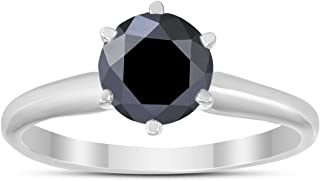 Best 1 carat black and white diamond ring Reviews