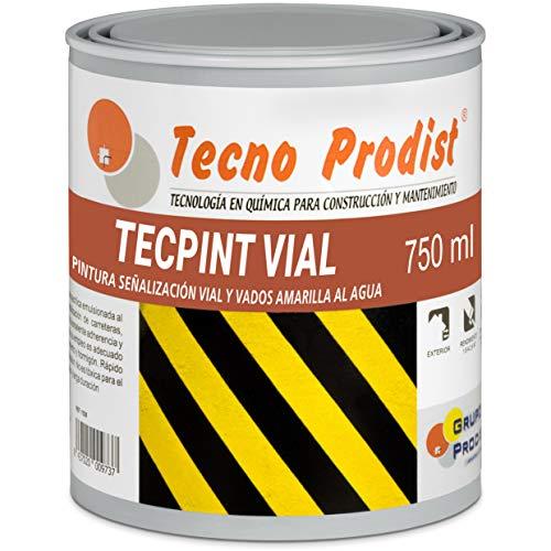 TECPINT VIAL by Tecno Prodist - (750 ml) GIALLO Vernice all'acqua, per segnaletica stradale, orizzontale,...