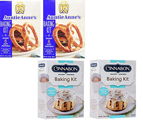 Auntie Anne's and Cinnabon Make Your Own Baking Kit Variety Pack (4 Pack)