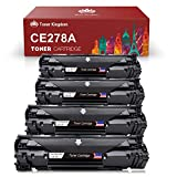 Toner Kingdom Compatible with HP 78A CE278A Black Laser Toner Cartridges for Use in HP LaserJet Pro M1536dnf Pro P1606dn P1560 P1566 P1600 P1606 - 4 Pack