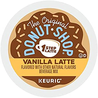 The Original Donut Shop Vanilla Latte, Single-Serve Keurig K-Cup Pods, Flavored Coffee, 60 Count