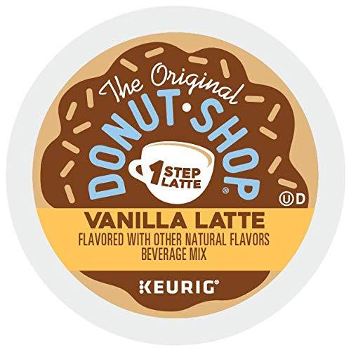 The Original Donut Shop Vanilla Latte, Single-Serve Keurig K-Cup Pods, Flavored Coffee, 60 Count