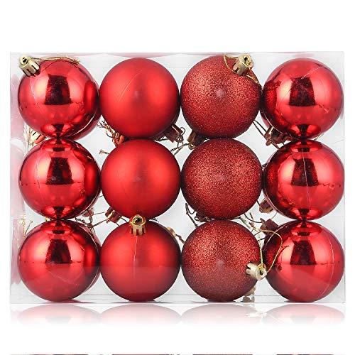 ZOGIN Christmas Baubles Ornaments 24pcs, Shatterproof...