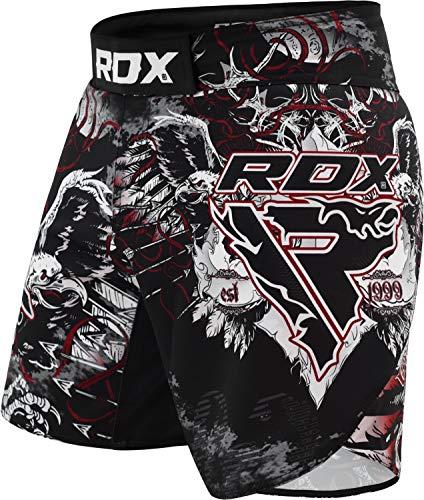 RDX MMA Pantaloncini da Allenamento   Ottimo per la Boxe, Arti Marziali, Kickboxing, Grappling   Pantaloncini Elasticizzati per BJJ e Muay Thai