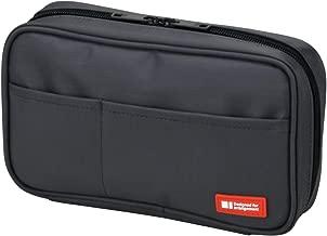 LIHIT LAB Pen Case, 7.9 x 2 x 4.7 inches, Black (A7551-24)