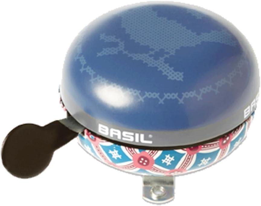 BASIL Tasche//Korb Glocke//Klingel BIG BELL BLOOM Ø 80mm emerald//grün Fahrrad