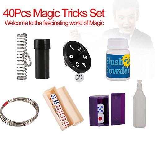 Flytise Juego de Truco mágico de 40 Piezas para el Regalo mágico de Navidad para niños y Amantes