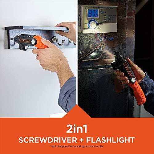 BLACK+DECKER 4V MAX Cordless Screwdriver with LED Light (BDCSFL20C)