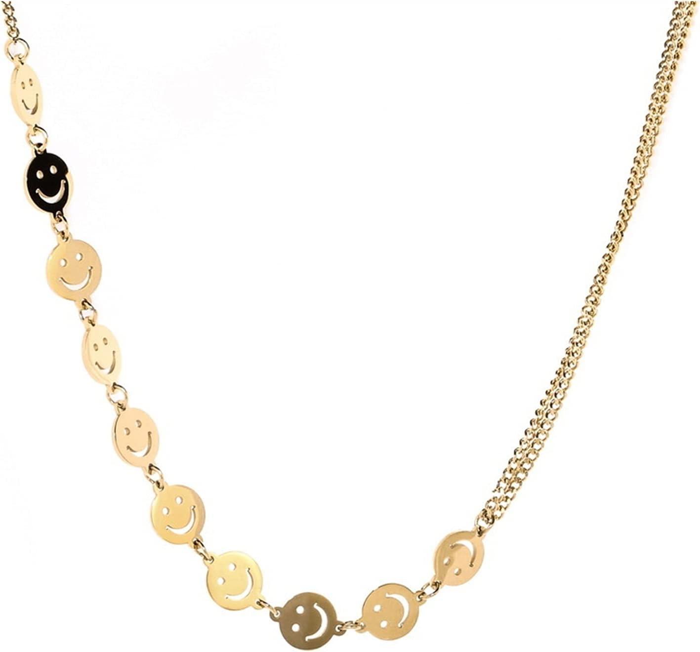YESYI SHMGO Simple Ins Style Choker Female Colorado Springs Mall Necklace Face Smiley Sacramento Mall
