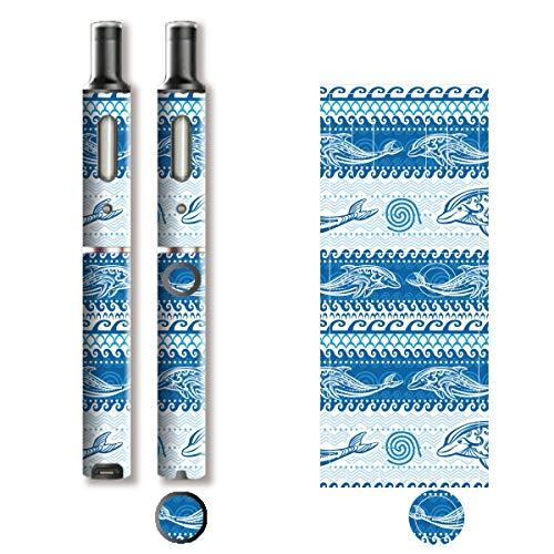 電子たばこ タバコ 煙草 喫煙具 専用スキンシール 対応機種 プルーム テック プラス Ploom TECH+ Ploom Tech Plus イルカ (Dolphin) イメージデザイン 05 イルカ (Dolphin) 01-pt08-0639