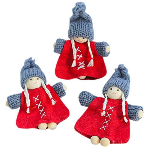 Printasaurus 3PC Christmas Ornaments Gift Santa Claus Snowman Toy Doll Hang Home & Garden Decoration & Hangs