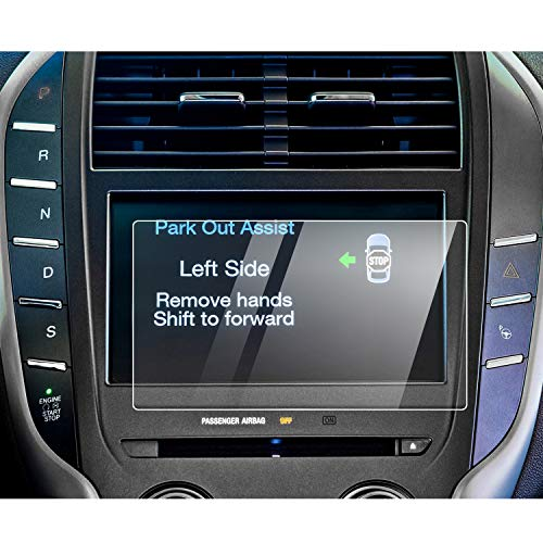 YEE PIN Lincoln Sync 3 Screen Protector for 2015-2019 Lincoln MKC MKS Sync 2 Sync 3 AppLink Center Control Touch Screen, Car Navigation Display Glass Protective Film 9H Anti-Scratch (8-Inch)