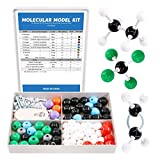 Swpeet 179 Pcs Organic Chemistry Molecular Model Student and Teacher Kit, Chemistry Molecular Model Student and Teacher Set - 76 Atoms & 102 Links & 1 Short Link Remover Tool