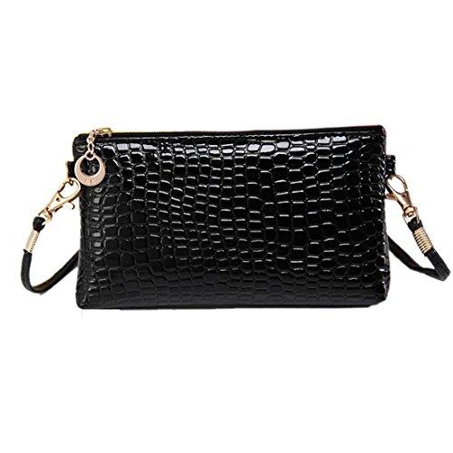 professionnel comparateur Koly Bag, sac à bandoulière en peau de crocodile pour femme (noir) choix