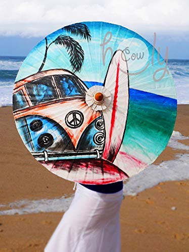 Hand Painted Waterproof Hippie Parasol sale With Bag Large special price !! FREE Umbrella