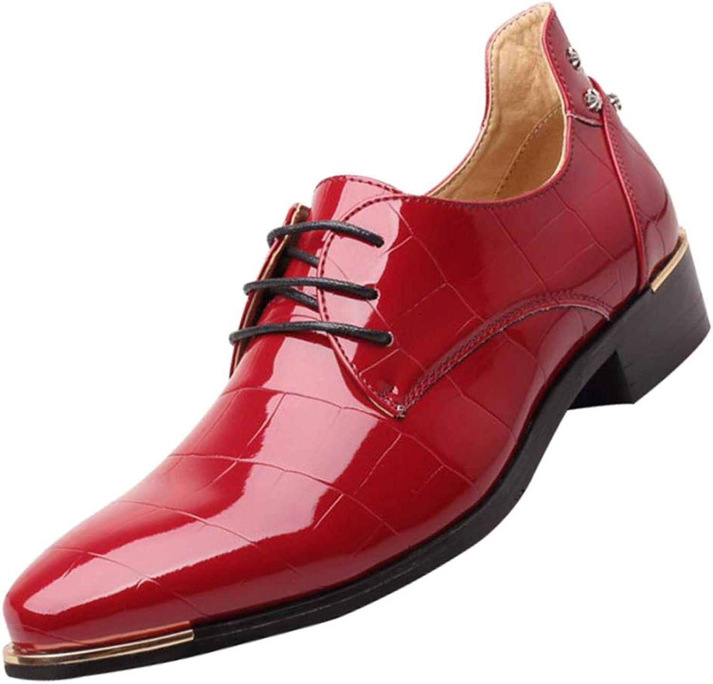 RSHENG Herrenspitze Mode Derby Schuhe Business Casual Schuhe  | Shop