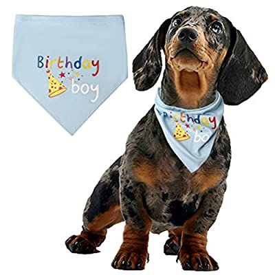 nuosen Dog Birthday Bandana, Pet Birthday Bandana Soft Pet Scarf for Dogs Neck Scarf Party Accessories by nuosen