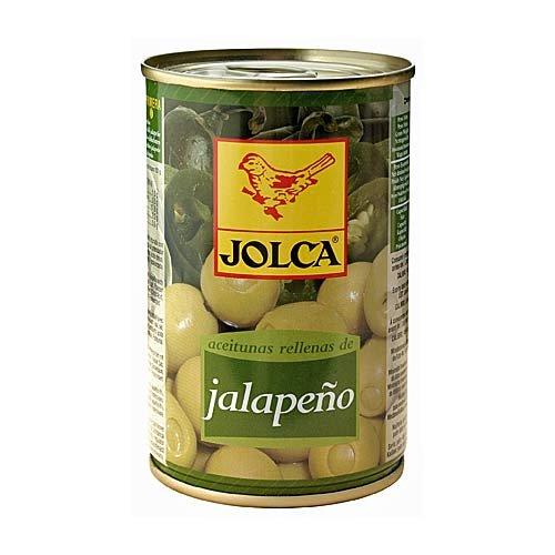 Aceitunas Jalapeno - Spanische grüne Oliven mit Chilischotenpaste gefüllt