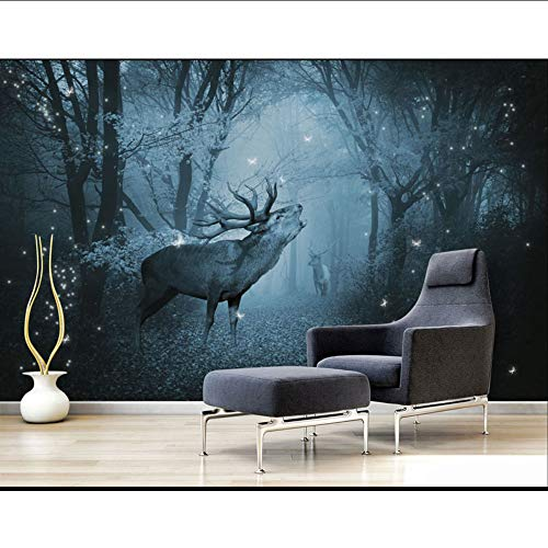 Cczxfcc, landkaarten, bos, Elk fotobehang, wand, woonkamer, slaapkamer, Papel De Parede 3D, zelfklevend 450cmx300cm