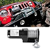 12V 2000lb Heavy Duty Electric Winch Remote Control Winch Cable Rope Trailer Truck
