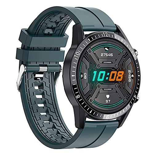 QFSLR Smartwatch, Reloj Inteligente con Monitor De Frecuencia Cardíaca Llamada Bluetooth Monitor De Presión Arterial Monitoreo De Oxígeno En Sangre Android iOS,Verde