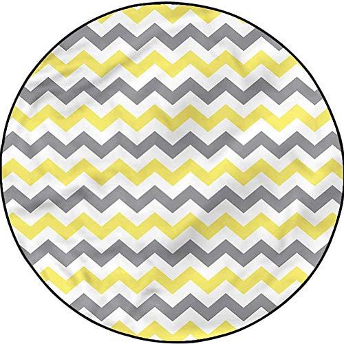 Geometric Trellis Pattern Rug Christmas Thanksgiving Decor Rug Horizontal Chevron Zigzag Diameter 41 in(104cm)