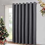 AMAZING FABRIC: The blackout curtain's fabric is super soft and heavily innovative triple-weave polyester fabric. The Same material back as of front makes it appear more elegant. The 14 sliver grommets top (inner diameter is 1.6-inch) adds a modern t...