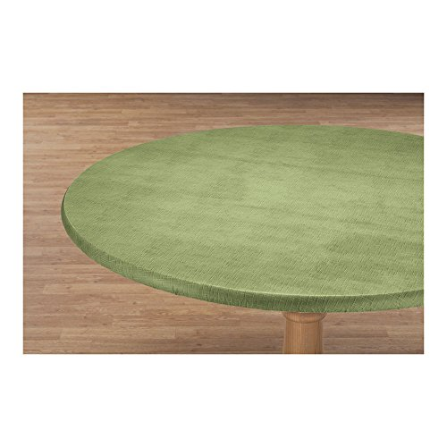 Miles Kimball Illusion Weave Vinyl Elasticized Table Cover by HSK 45' - 56' Dia. Round