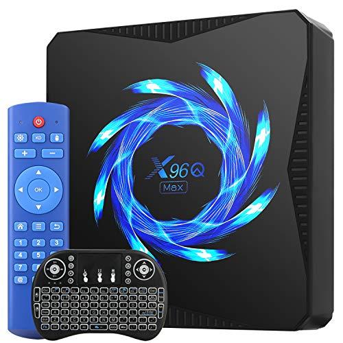 Android 10.0 TV Box, Smart Box 4 GB RAM 64 GB ROM Allwinner H616 Quad-Core 64-bit Supporto 6K 3D 100M LAN 2.4 5.8G Wi-Fi USB 3.0 Media Player