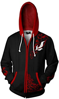 Anime RWBY Cosplay Costume Hoodie Rose Zipper Sweatshirt