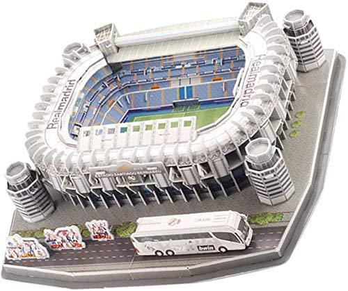 ZJ Exquisit 3D Puzzle Fußballstadion Modell, 3D Fußball Puzzle Barcelona Camp NOU Stadium Modell Gebäude Kit für Kinder Erwachsene Mode (Size : Standard c)