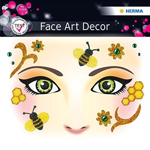 Stickers Face type Honey Bee Herma 15304 4008705153041