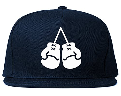Kings Of NY Boxing Gloves Chest Snapback Hat Cap Navy Blue