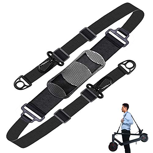 PERCARE Kick Scooter Shoulder Strap Compatible for Carrying Beach Chair, Electric Scooter,Kids Bike,Foldable Bikes, Balance Bikes, Yoga Mat,Adjustable Should Belt Straps with Non-Slip Shoulder Pad
