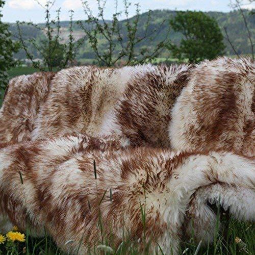 Hollert Naturfelle Öko Schaffell Lammfell geflammt Größe 120-130
