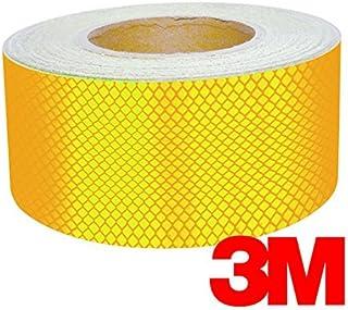 "3M High Intensity Adhesive Diamond Reflective Automotive Vinyl 12"" Tape Roll (1"" x 12"" 2-pack, Gloss Gold Reflective)"