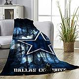 American Tootball Team Dallas Cowboys Manta de forro polar de tamaño suave y sedosa manta de felpa...