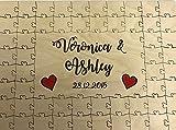 Personalizable de madera de colores Corazones Boda Libro de invitados Puzzle aniversario, madera, 200 pieces 657x520mm (25' x 21')