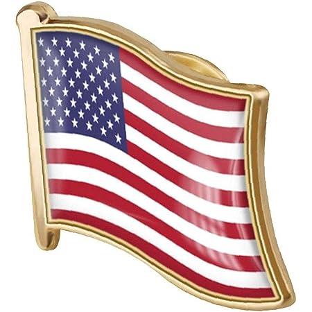 1pc American Flag Pin Badge di Metallo Spilla Spilla USA Stati Uniti del Risvolto della Bandierina Pin novità Accessori