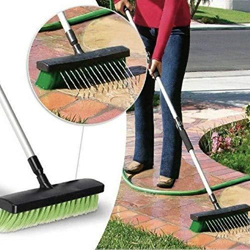 11 PVC Broom, With Handle Marko Homewares Broom Sweeping Brush Soft Stiff Head PVC Outdoor Yard Sweeper Handle Stable