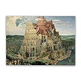 Torre de Babel Jigsaw Puzzles para adultos 500 piezas rompecabezas desafiante juego de rompecabezas