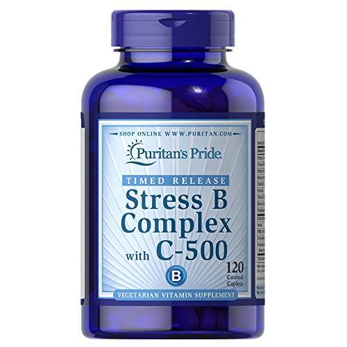Puritan's Pride Stress Vitamin B-Complex with Vitamin C-500 Timed Release, 120 Count