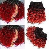Water Wave Short Human Hair Bundles 8Inch 4...