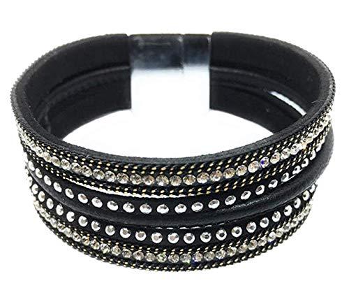 Fashion Jewellery from Calon Glass Pulsera de mujer con cristales y diamantes...
