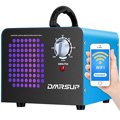 DMRSUP Commercial Ozone Generator 2.0 APP Control 11000 mg/h Air Purifier Ionizer - High Capacity O3 Machine for Large Rooms, Cars, Pets, Blue