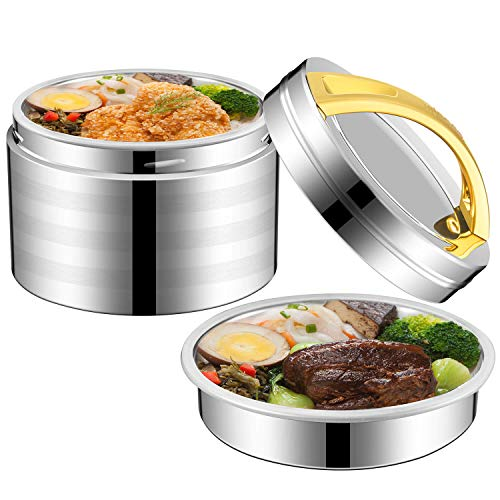 Insulated Lunch Container with Handle for Hot Food2 Tier Thermal Insulated Lunch Thermos Wide Mouth 304 Stainless Steel Vacuum Insulated Food Jar
