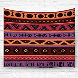Leisure-Time Tapiz Colgante, Color en Estilo étnico Ornamental Tema Africano Colcha Vintage Toallas de Playa 60 'X80'