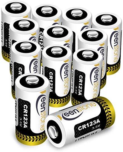 Keenstone CR123A 3V 1600mAh Batterie Monouso 12PCS CR123A Batteria per Torcia, Fotocamera Digitale,