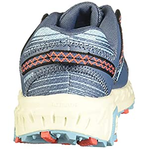 New Balance Women's 410 V6 Trail Running Shoe, Stone Blue/Wax Blue, 8.5 M US